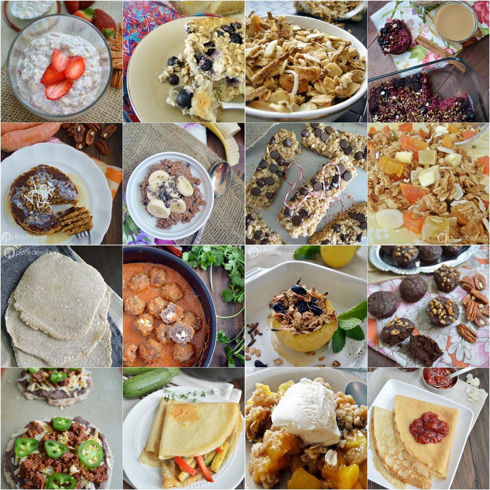 25 recetas con avena (nuevas formas para usar la avena en desayunos, snacks, postres, comidas, bebidas y más)