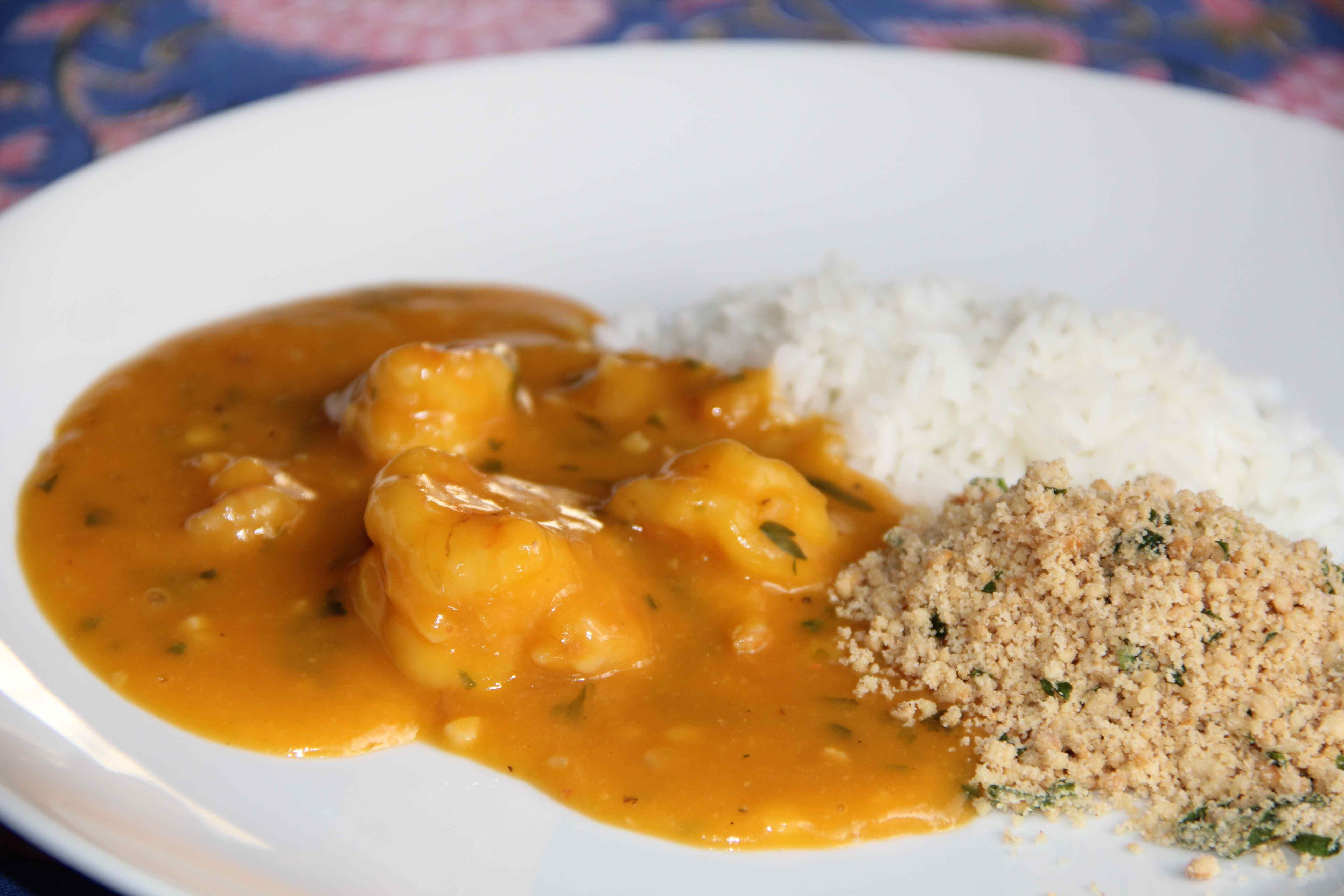 arroz paraense com camarao fresco