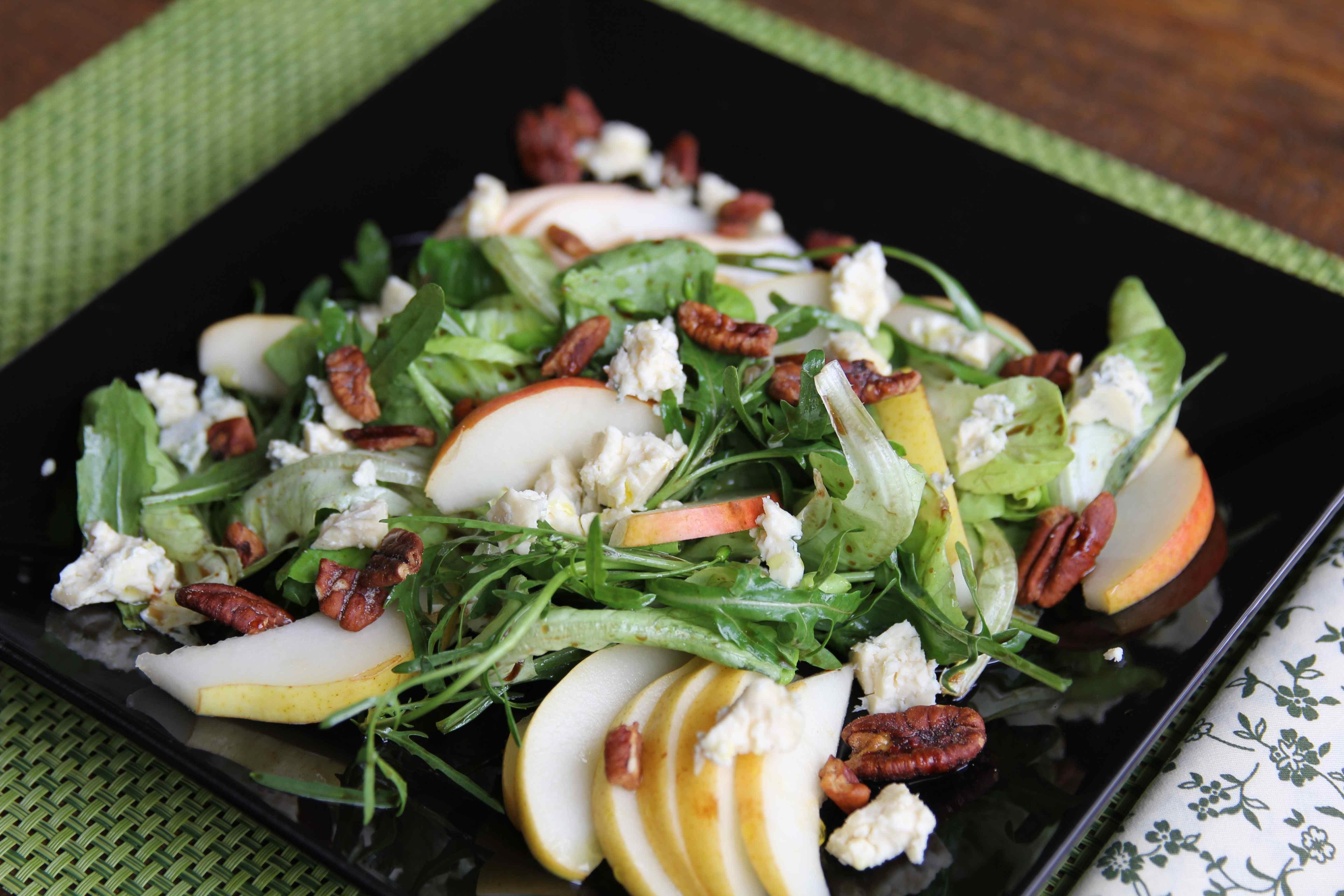 Salada de Peras, Roquefort e Pecan