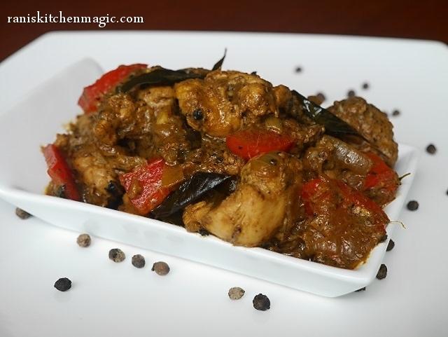 Pepper Chicken Masala Kerala Style (Chicken Kurumulaku Masala)