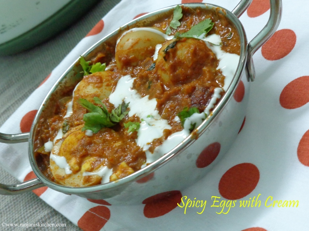 Egg Masala in Fresh Cream