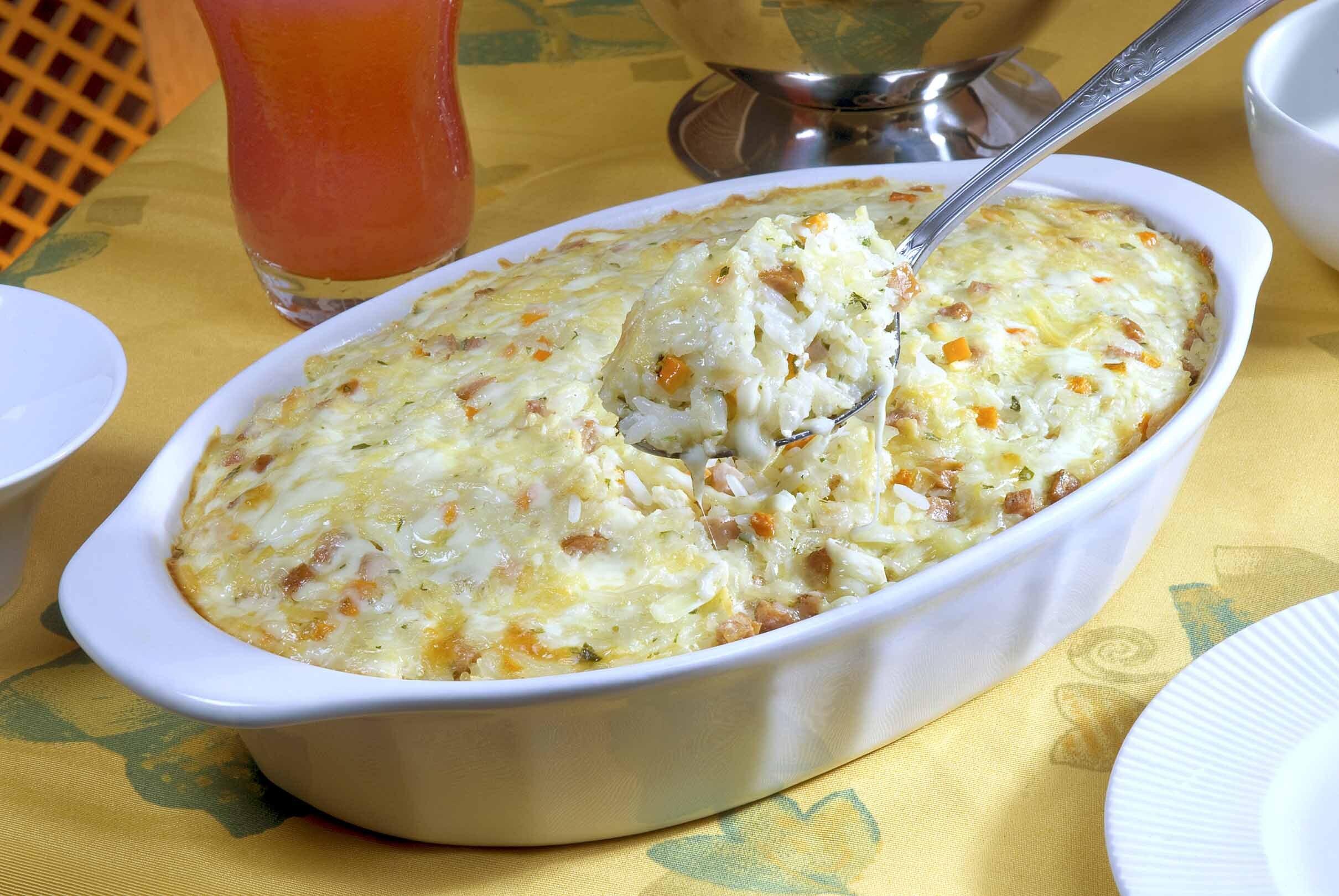 arroz de forno simples e rápido