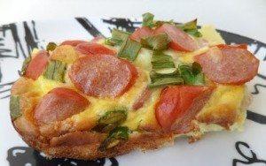 Omelete Assada de Batata e Salsichas