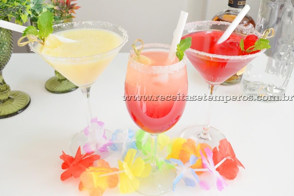 drinks sem alcool de groselha para festa