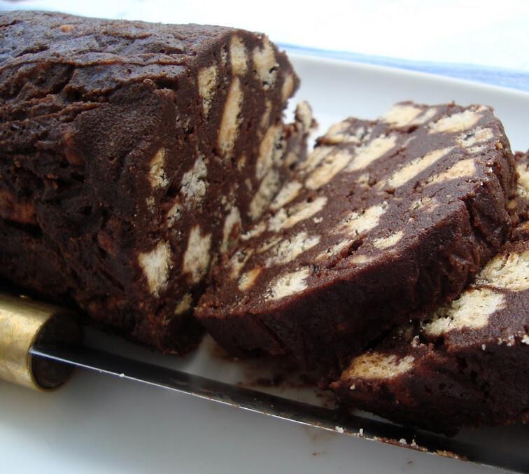 salame de chocolate receita