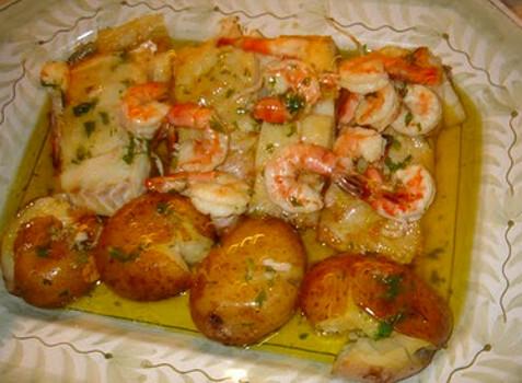 Receita de Bacalhau com camarão