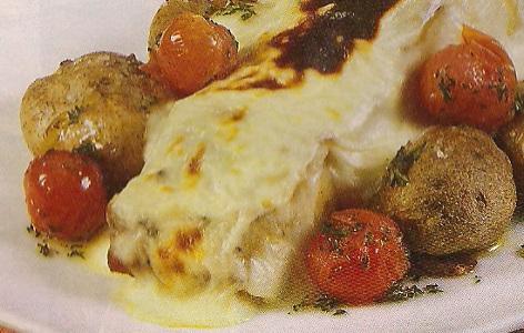Receita de Bacalhau com creme de queijo