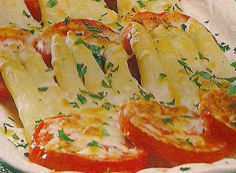 Receita de Gratinado de Espargos e Tomate