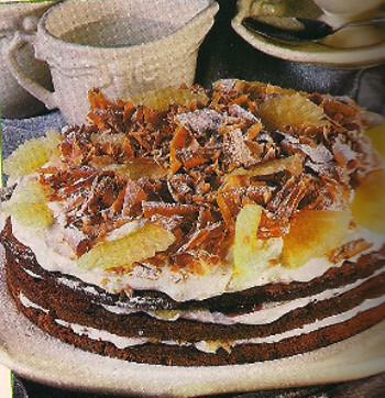 Receita de Delícia de chocolate e ananás