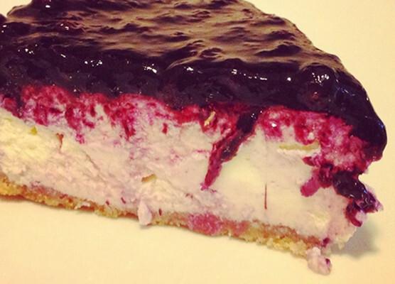 Cheesecake com Amoras
