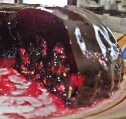 gelatina colorida com folhas de gelatina