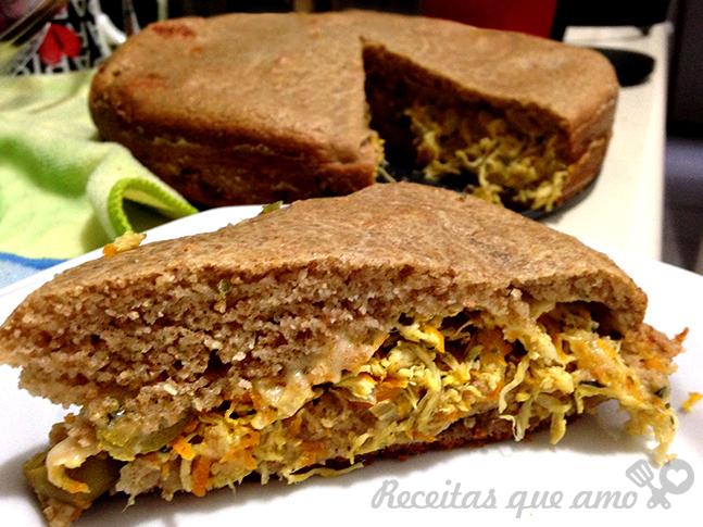 torta de legumes com frango fofinha