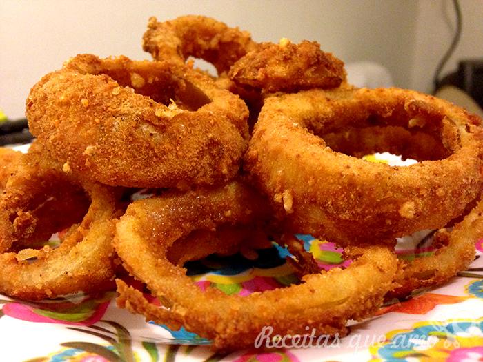 Onion rings (cebola empanada)