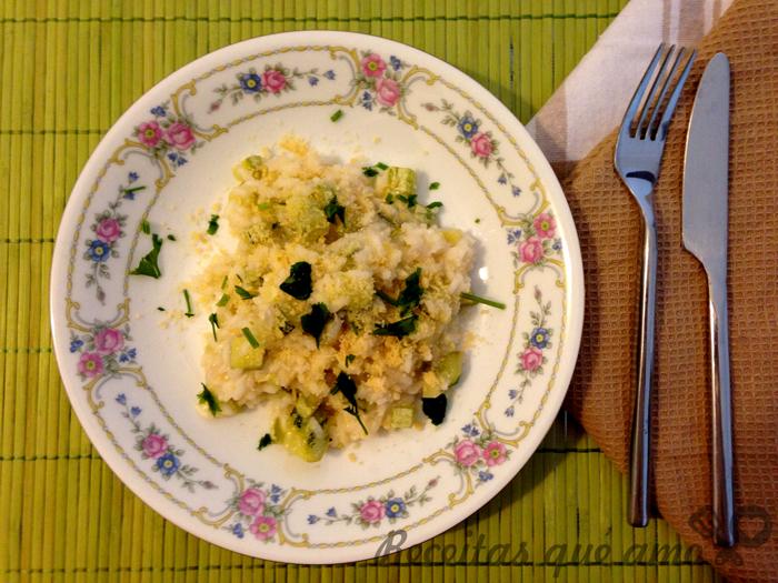 Risoto de abobrinha (vegetariano)