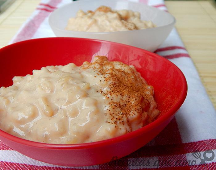 Receita de arroz doce moreno