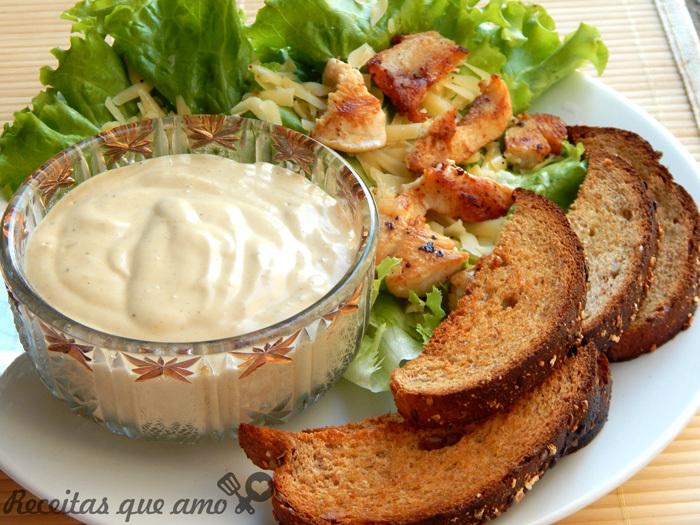 Salada Caesar do meu jeito
