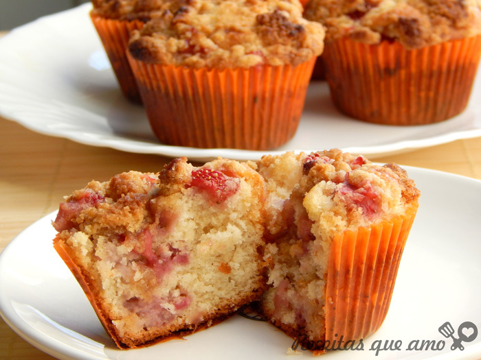 Muffin de morango e baunilha