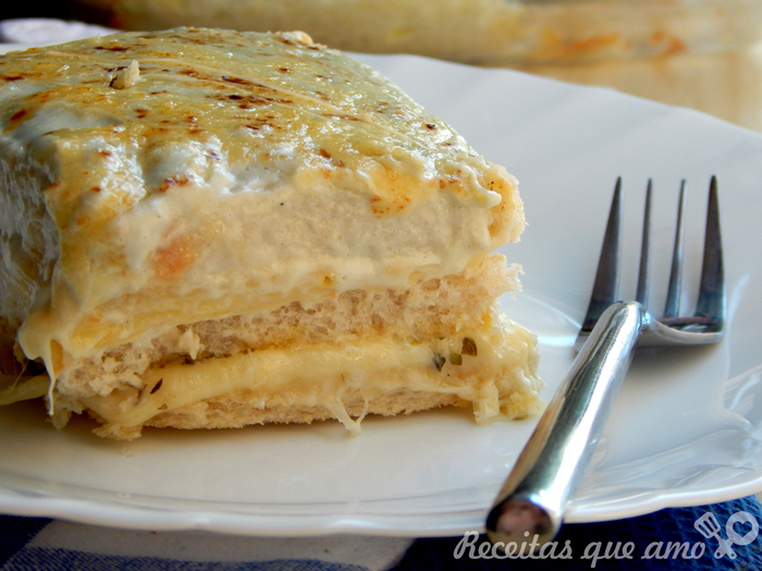 Sanduíche de forno 5 queijos