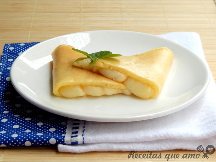 Crepioca de queijo ou pão de queijo de frigideira