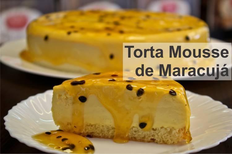 Torta Mousse de Maracujá