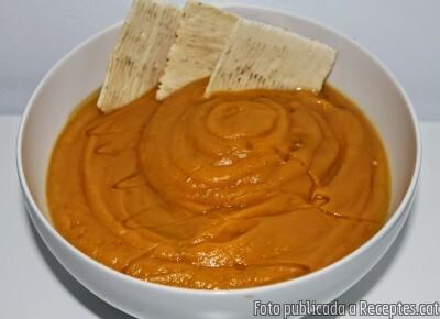 Crema de carbassa i boniato al comí