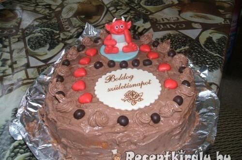 Főzött krémes csokitorta