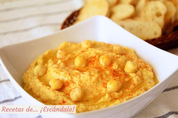 Hummus o crema de puré de garbanzos