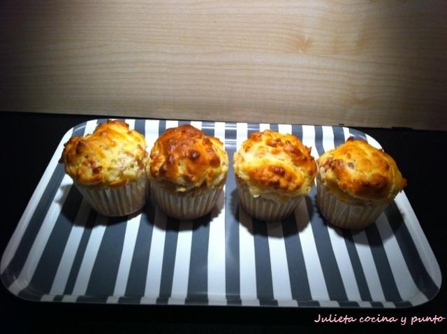 Cupcakes de jamón y queso
