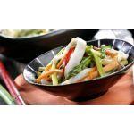 Calamares con verduras en wok