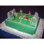 Cancha de foot-ball  torta de cumple