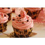 Cupcakes semifríos de frutillas