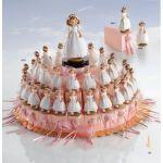 Torta para la comunión de una niña