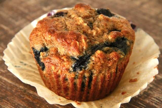 . blueberry banana breakfast muffins .
