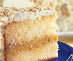 bolo gelado de nozes e doce de leite