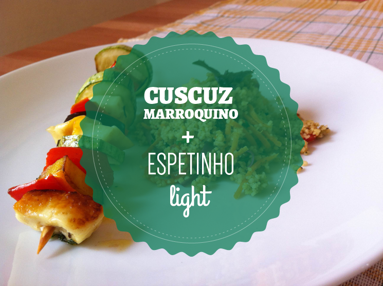 Cuscuz marroquino e espetinho light