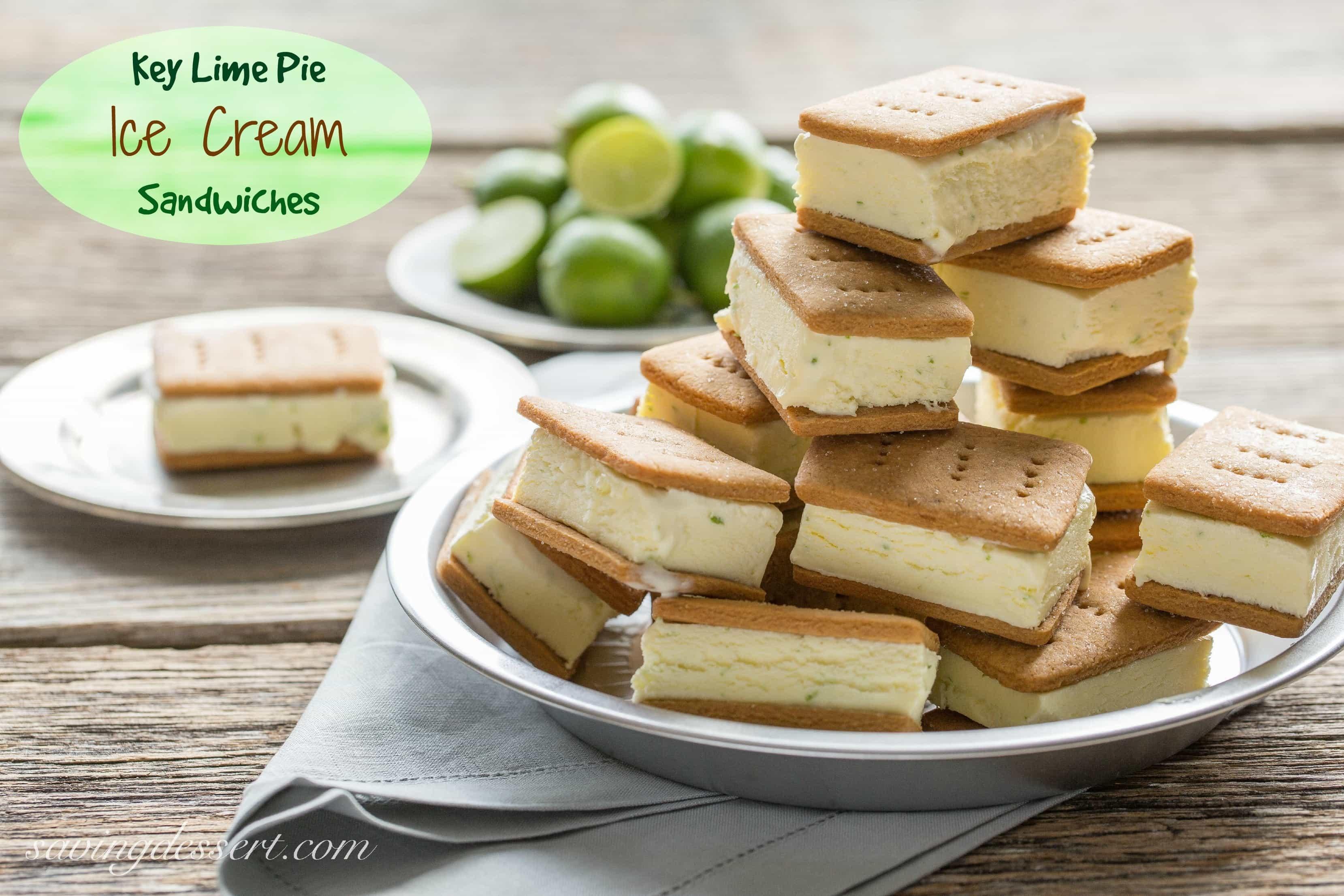 Key Lime Pie ~ Ice Cream Sandwiches