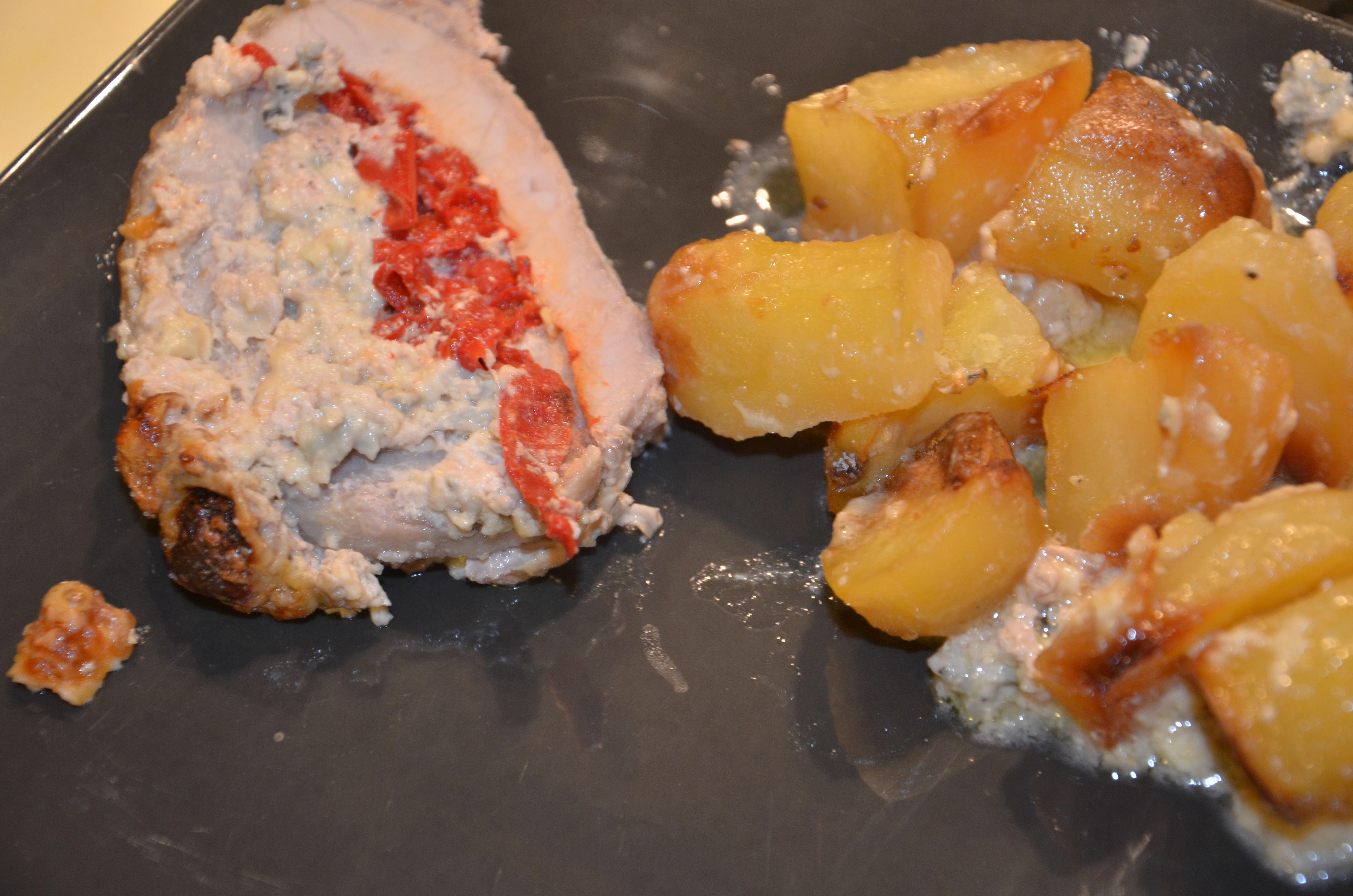 Roti de porc à la Fourme d'Ambert