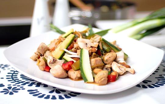 Filete de Pavo Sopraval con Verduras al Wok Tipo Oriental