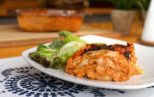 Torta de Panqueque Boloñesa con Carne Molida de trutro de Pavo Sopraval
