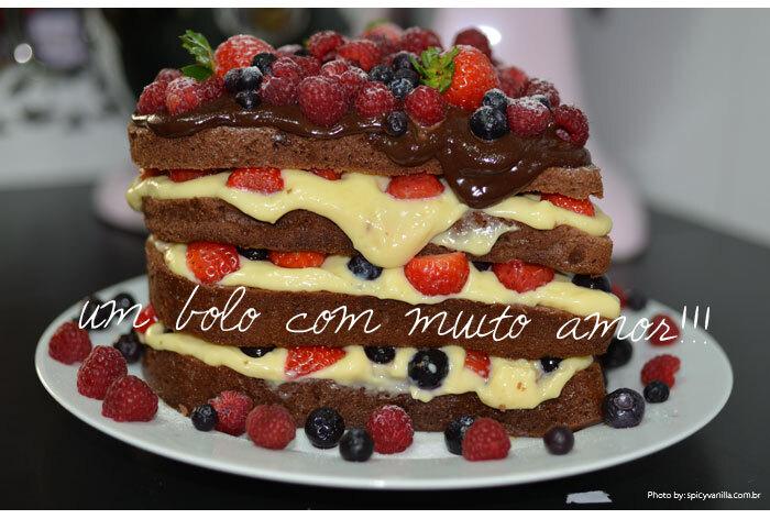 Naked Cake - Bolo