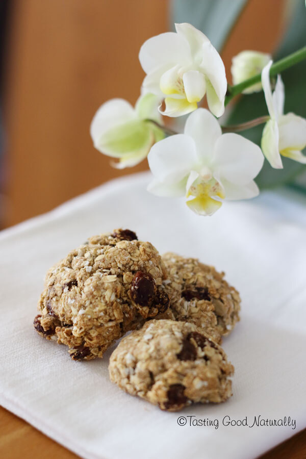 Biscuits croquants aux flocons d'avoine et raisins secs #vegan