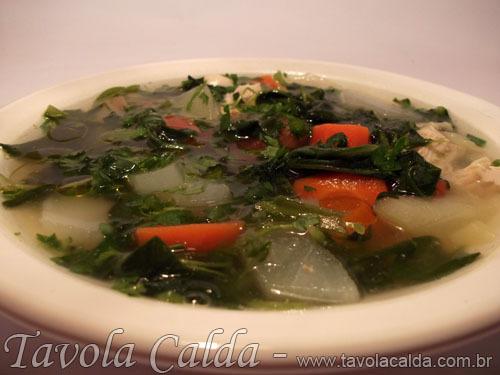 sopa emagrecedora com frango