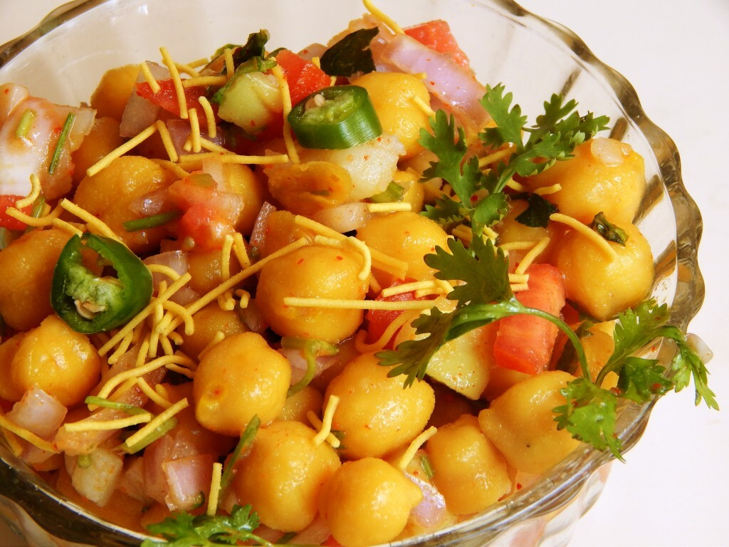 Kabuli Chana Chaat Recipe | Chick Pea Snack | Healthy Appetizer