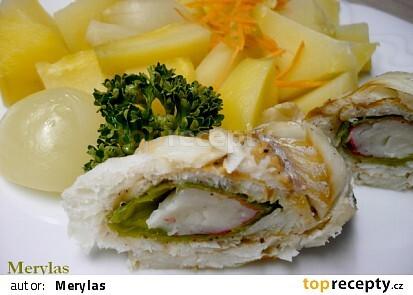 Rybí rolka vařená v páře