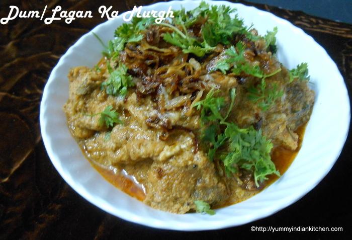 Hyderabadi Dum Ka Murgh Recipe,Lagan Ka Murgh Curry,Chicken Curries