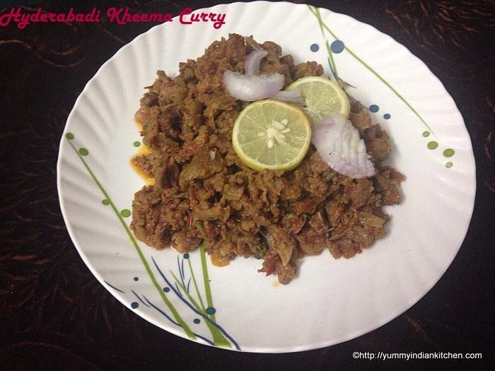 Mince Meat Recipe,Hyderabadi Kheema Curry