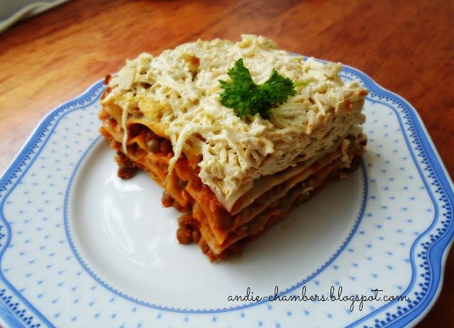 Čočkové lasagne