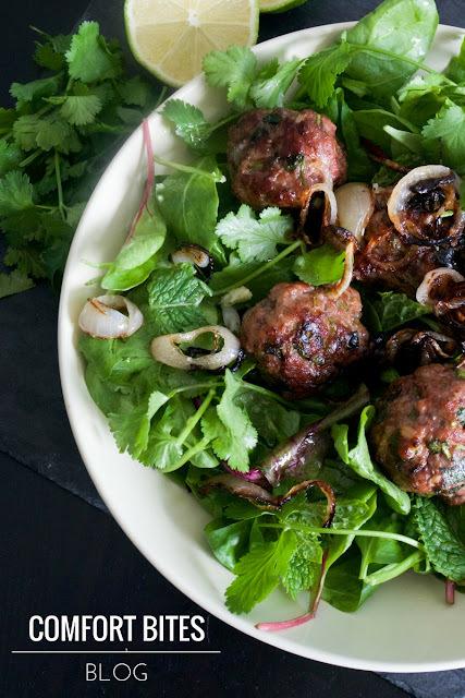 Thai Style Lamb Meatballs with Aromatic Salad