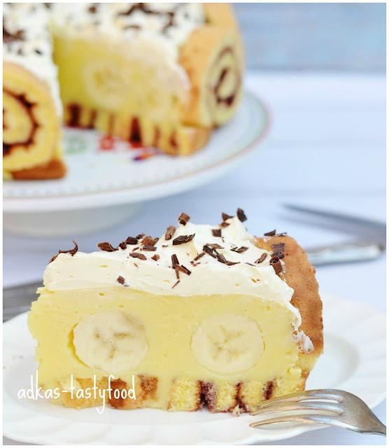 Banánová torta slimáčiková