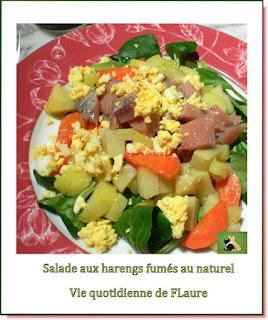 Salade aux harengs fumés au naturel